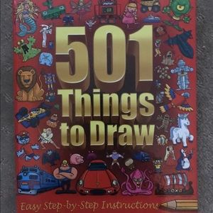 501 THINGS TO DRAW Drawing Book